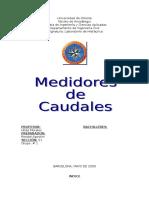 2do Informe Medidores de Caudal