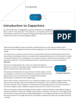 Introduction to Capacitors, Capacitance and Charge