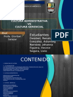 Cultura Administrativa vs Cultura Gerencial