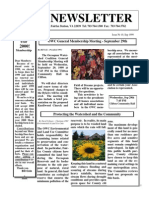 September 1999 Occoquan Watershed Coalition Newsletter