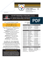 Pittsburgh Steelers At New England Patriots (Jan. 22)