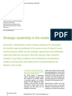 Strategic Leadership in the Media Industry