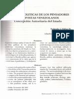 Las Ideas Políticas de Los Pensadores Positivistas Venezolano