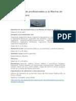 Asimilación de Profesionales a La Marina de Guerra Del Perú