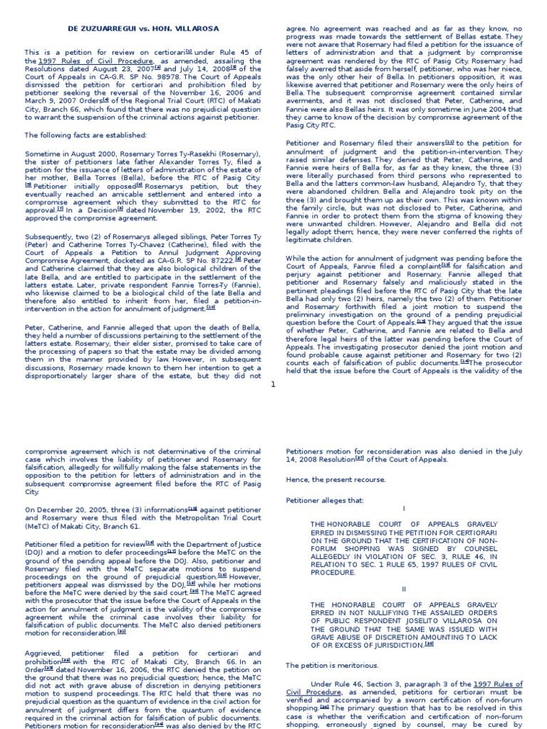 Prejudicial Question | Burden Of Proof (Law) | Lawsuit