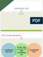 The Condominium Act