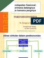 1. Pendapatan Nasional, Konsumsi, Investasi Dan Tabungan