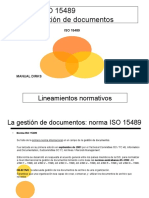Norma ISO 15489 Control Documentos y Registros