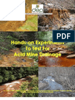 Hands On Experiments to Test for Acid Mine Drainage