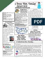 newsletter january 16-20