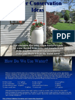 Water Conservation Ideas