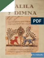Calila y Dimna - Anonimo