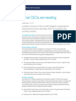 What CEOs Are Reading