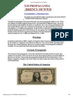 German Propaganda Currency of WW II 1