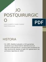 Delirio Postquirurgico