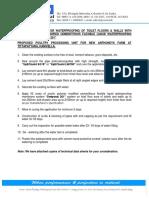 Method Statement for Waterproofing of Toilets