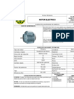 Ficha Tecnica, Motor Electrico