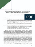 ADROHER AUROUX, A. 1987 - Cerámica de Barniz Negro en El Sureste. Bases Para Un Análisis Geoeconómico