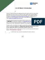 Formulário Scholarship British Council
