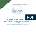 El Plan de Negocios Como AFE - MBA ICCI