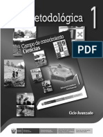 Guía Metodológica, Ciclo Avanzado 1. Campo de Conocimiento Ciencias