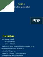 Cursul 1 Psihiatrie -Generalitati