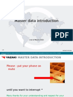 Master Data Introduction