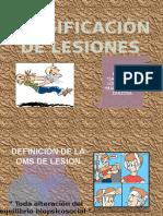 Clasificaciòn de Lesiones