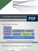 Sean Flack - Arista - L3 Leaf Spine Networks and VXLAN