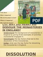 Dissolution of Monasteries
