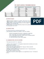 Pronombes Posesivos Adjetivos, Do y Make, Etc