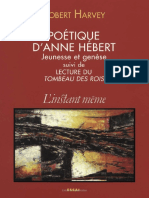 Poetique d Anne Hebert