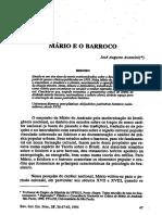 AVANCINI, José Augusto - Mário e o Barroco