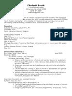 elizabeth fitz-gerald resume1-15-17