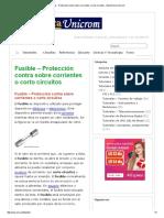 Fusible Protección Contra Sobre Corrientes o Corto Circuitos