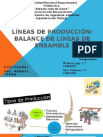 Completo Balance de Líneas de Producción