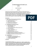 Recent Developments in Patent Law