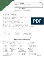 Relación Tema 5. Fracciones algebraicas. Problemas