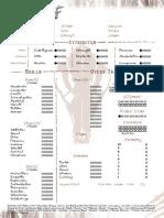WW - Character Sheet