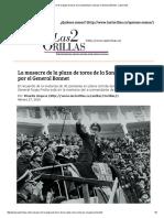 La Masacre de La Plaza de Toros de La Santa María Vista Por El General Bonnet - Las2orillas