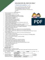 Lista de Utiles Escolares 1 y 2 Grado
