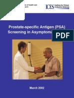 Prostate-specific Antigen (PSA) Full Report