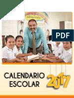 Calendario Escolar Mined 2017