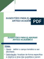b Sugestões Para Elaborar Artigo Acadêmico