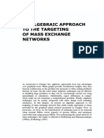 7 an Algebraic Approach to the Targeting of Mass Exchange Networks