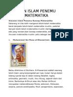 ILMUWAN ISLAM PENEMU KONSEP MATEMATIKA.docx