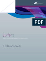 Surfer 13 Users Guide Preview