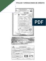 ejemplos de Clasificacion de Titulos y Operaciones de Credito