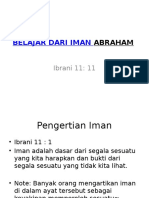 Belajar Dari Iman Abraham