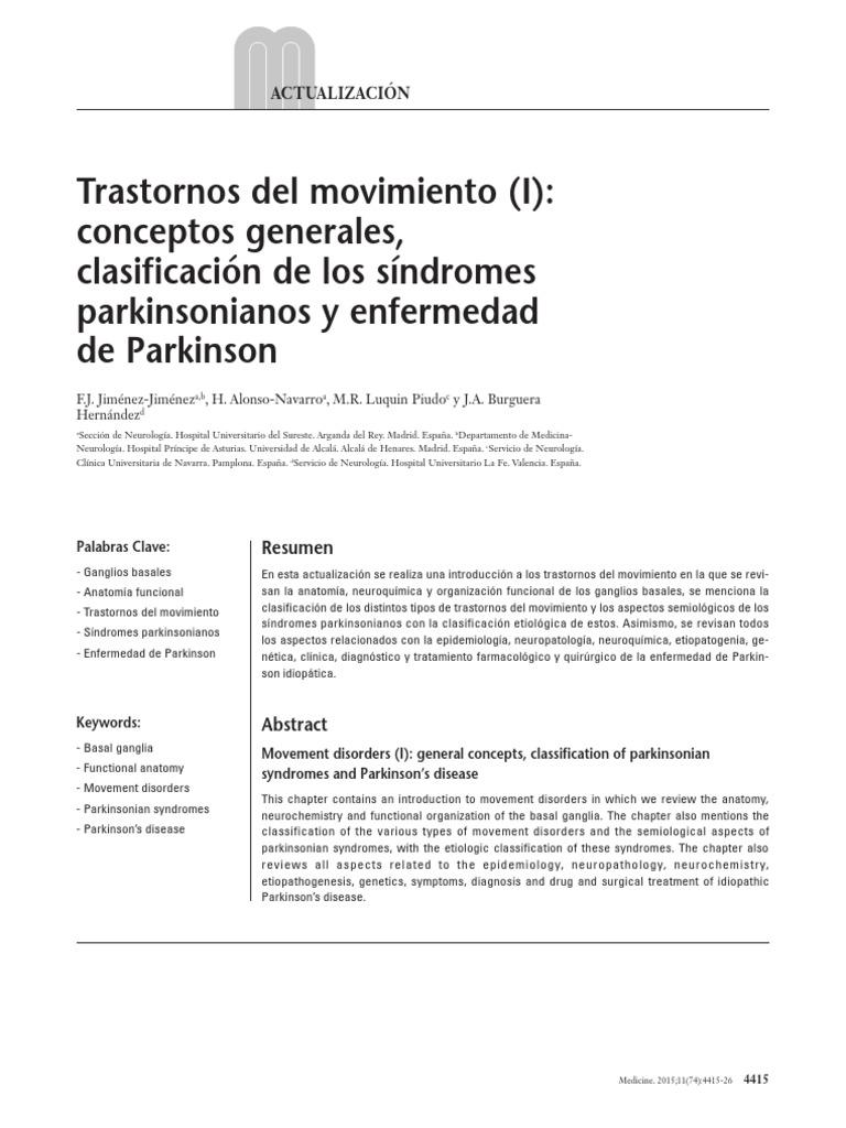 Increíble Anatomía Y Fisiología De La Enfermedad De Parkinson Adorno ...